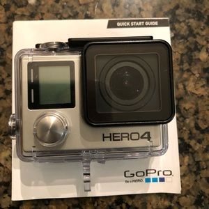 GoPro Other - GoPro Hero 4 wit Waterproof Case *NEVER USED*